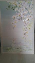 Картина маслом. Орхидея над водой