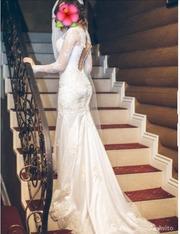 Свадебное платье с итальянской вышивкой